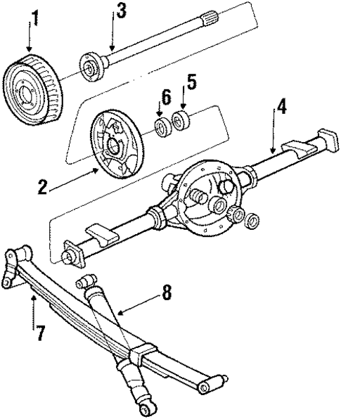 REAR SUSPENSION/DRIVE AXLES for 1984 Chevrolet G20 #1