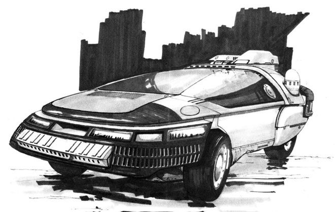The production designs that were used to create the film's future-noir look were collected in the Blade Runner Sketchbook. Now out of print, the book is still treasured by fans, and now a full copy is available to read online.