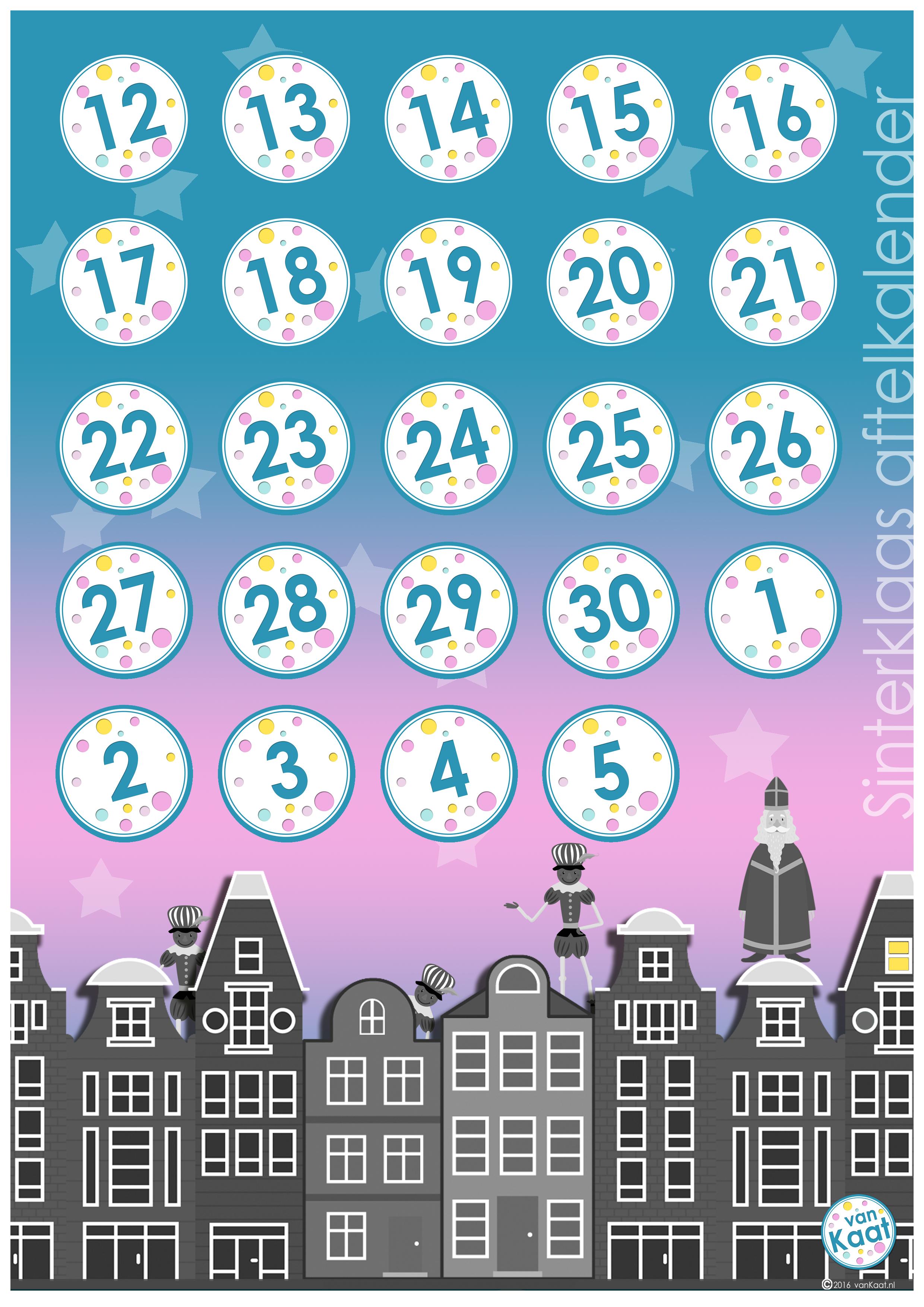gratis deze vrolijke sinterklaas aftelkalender