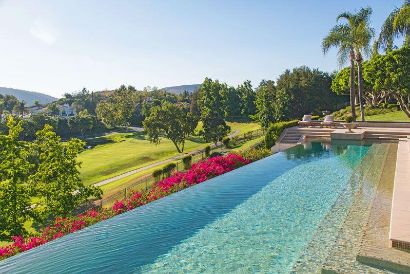 Infinity Pool Overlooking Golf Course Luxury Home Westlake