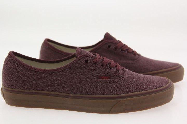 0dd02d7d9b93 Vans Men Authentic - Washed Canvas burgundy port royale gum VN04MKIL9  Vans   Shoes