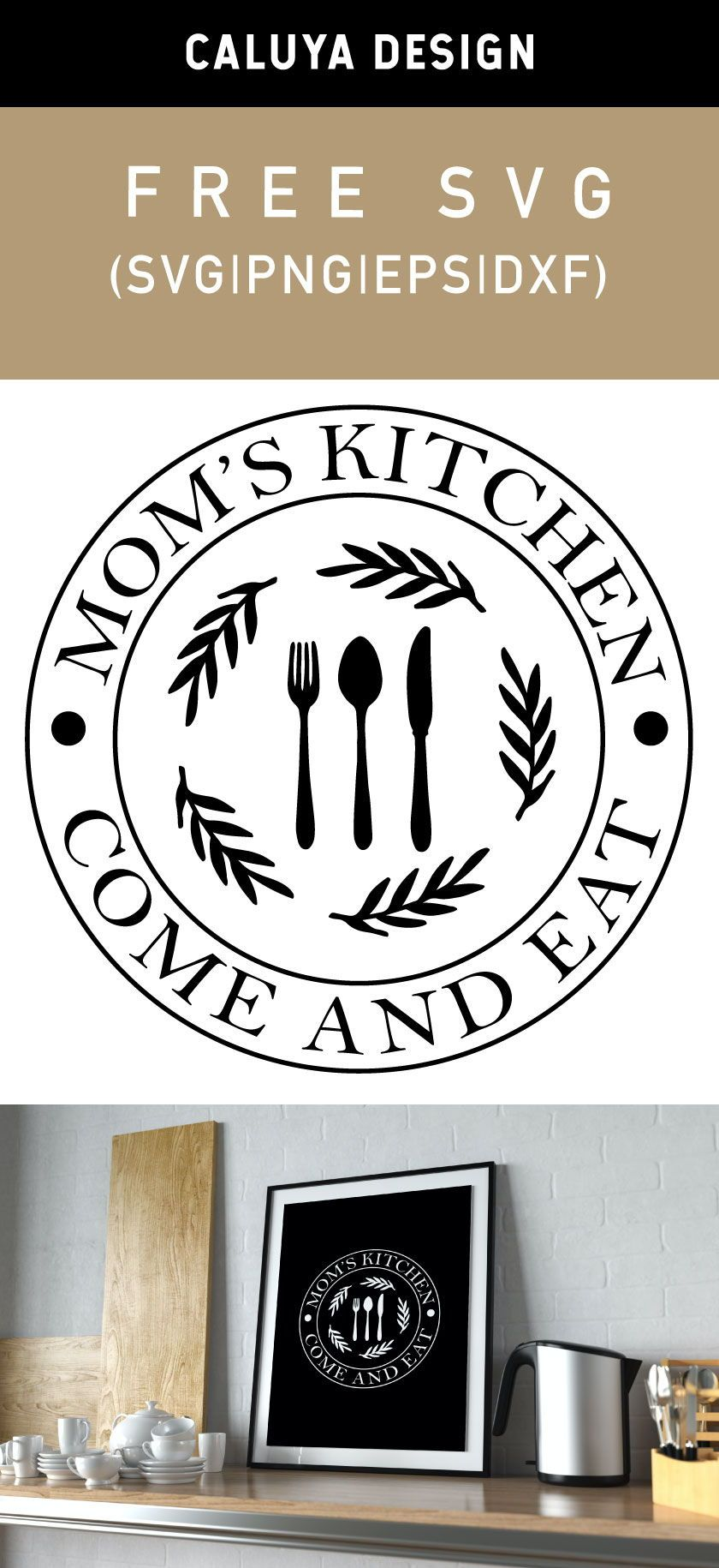 Free Mom's Kitchen SVG, PNG, EPS & DXF by Caluya Design