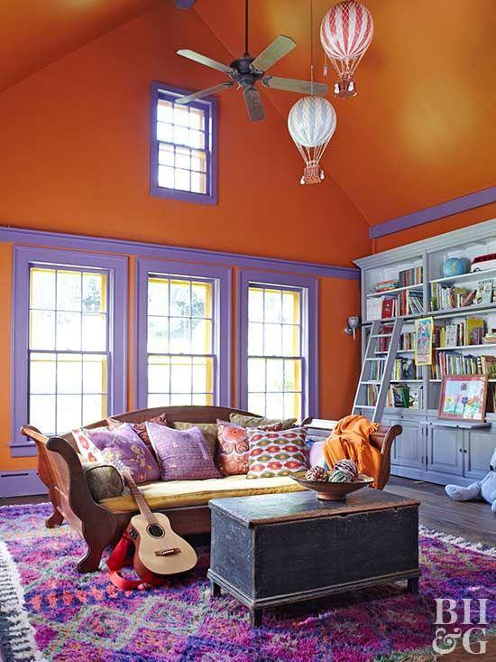 Orange And Purple Play Room Living Room Orange Fun Playroom