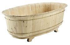 Verniciare Vasca Da Bagno : Vasca da bagno in legno massello di abete al grezzo da verniciare