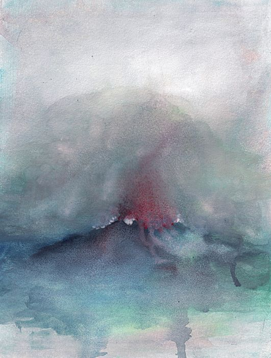 Landscape Temperature 4 Watercolour On Paper 24 X 32 Cm By