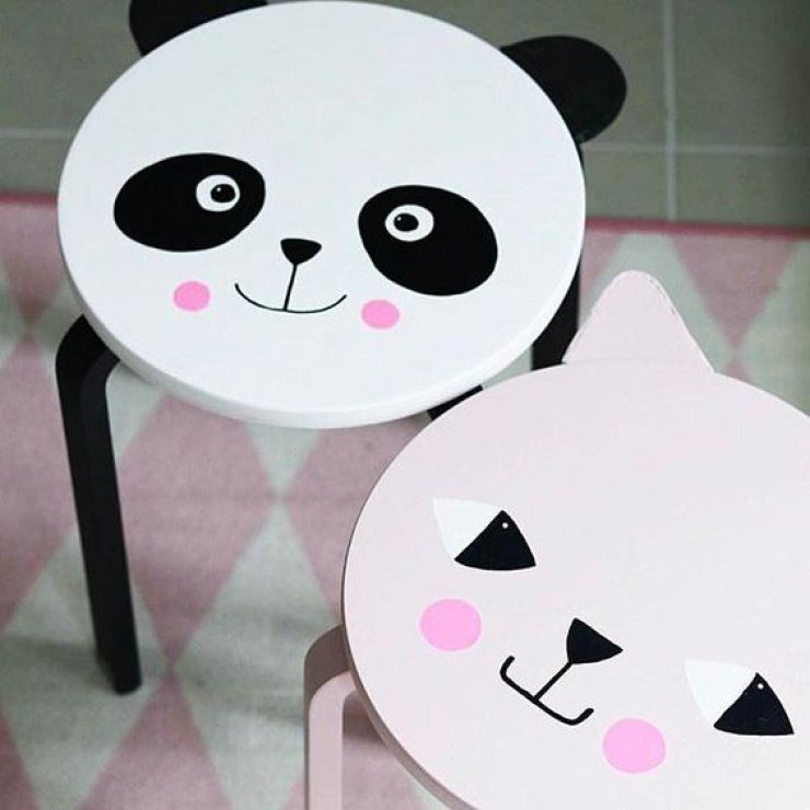 Ikea hack kinderzimmer panda hocker selbermachen for Einrichtungsideen kinderzimmer ikea