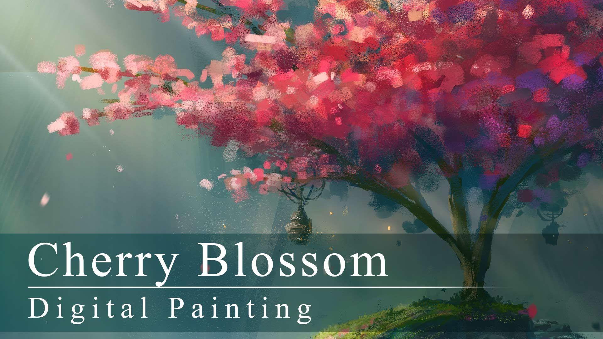 Digital Painting Cherry Blossom With Annotations Digital Painting Digital Painting Tutorials Youtube Art Tutorials