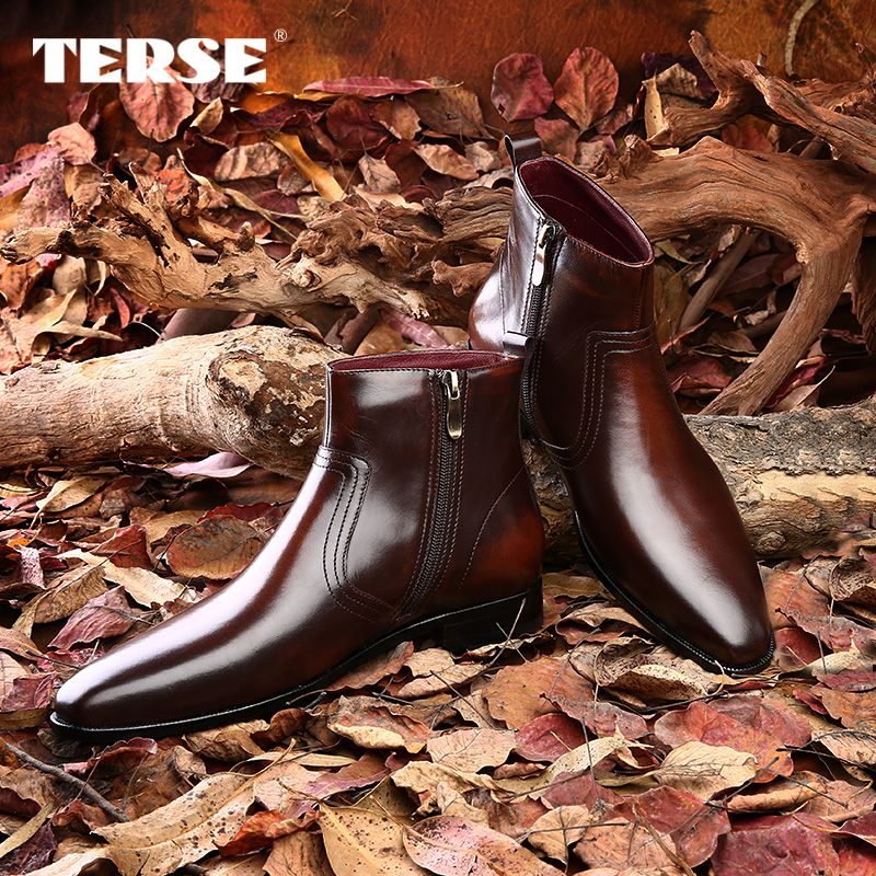 Aliexpress Com Buy Berluti Style 100 Handmade Fashion Genuine Cowhide Leather Mens Shoes Boots Wholesale Factory Oe Mens Shoes Boots Shoe Boots Men S Shoes