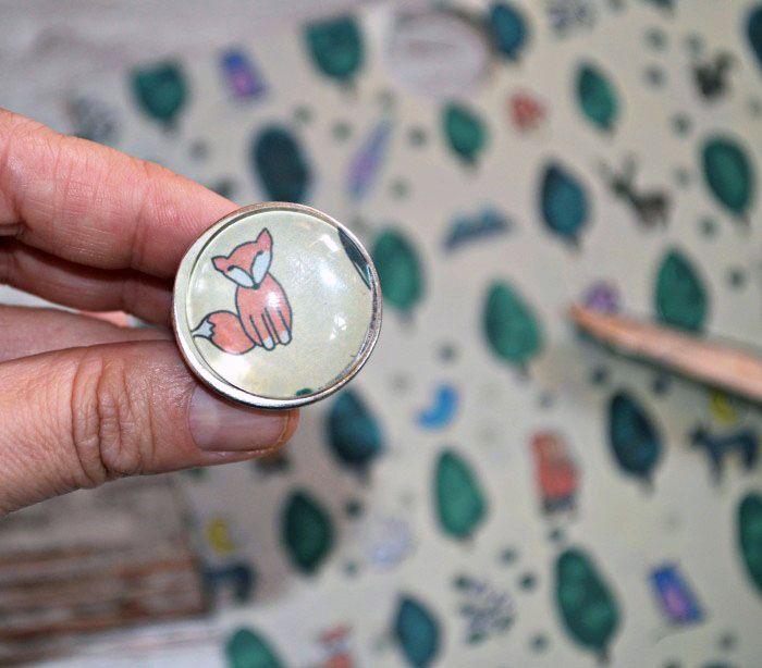 anillo con los papeles de escrap #escrapbrisa