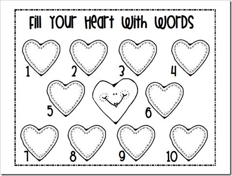 Candy Heart Math {& A Making Words Activity