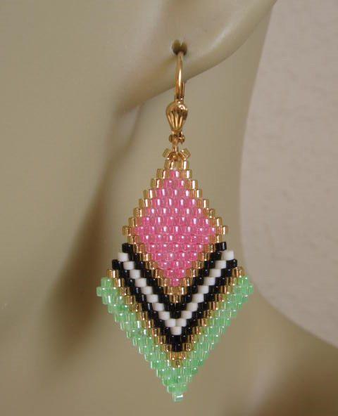 Diamant de forme facilement boucles d'oreilles par pattimacs