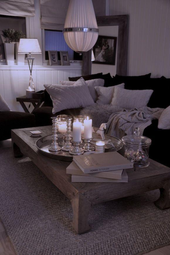 Stue med m?rk sofa. Interi?r stue Pinterest Inspiration and ...