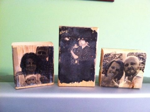 Image transfer wood blocks -- super easy and awesome!
