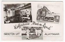 Koffiehuis Coffee House Stad en Land Alkmaar Netherlands RPPC postcard