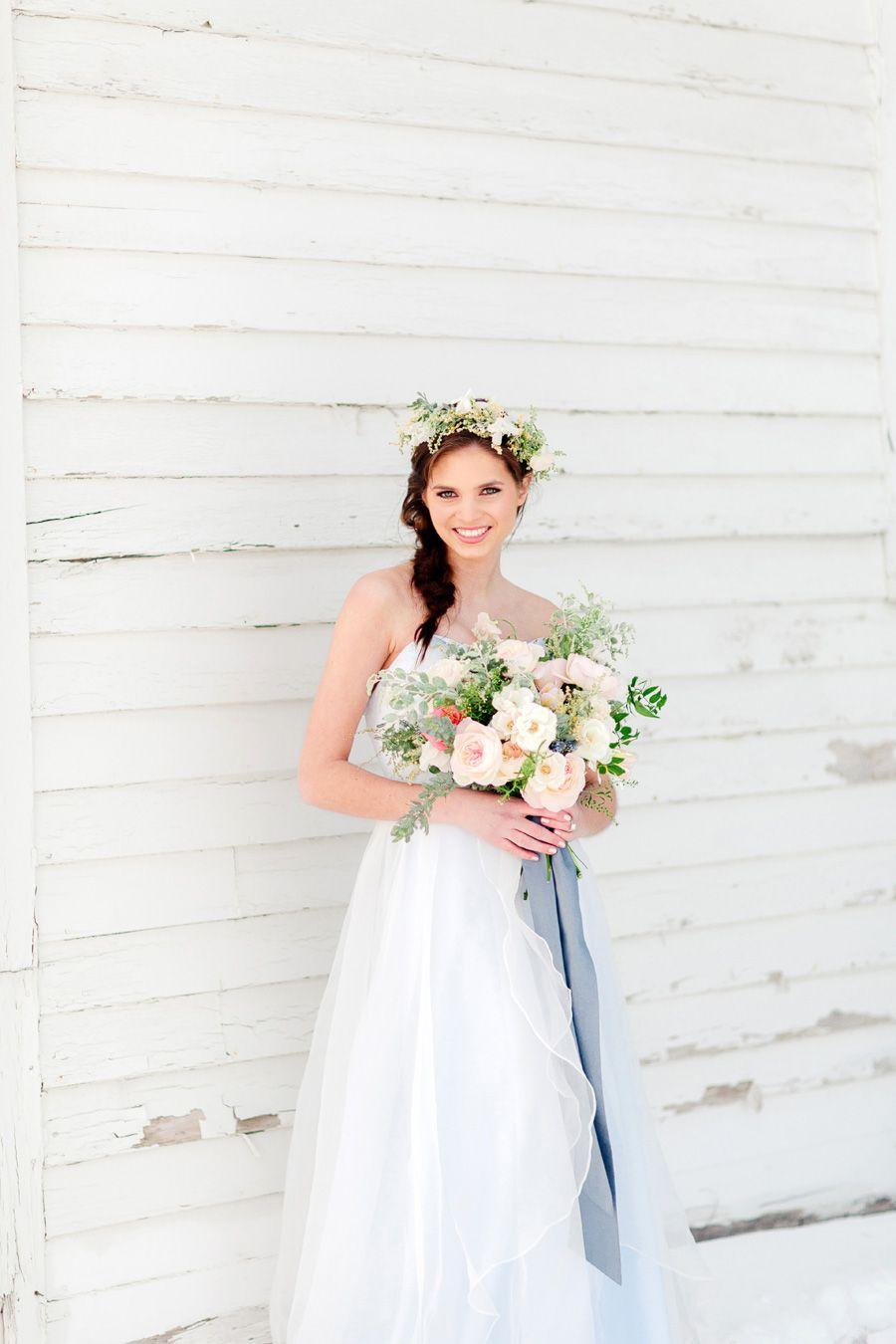 Bride | Bridal Gown | Floral Headpiece | Bridal Bouquet | Jody ...