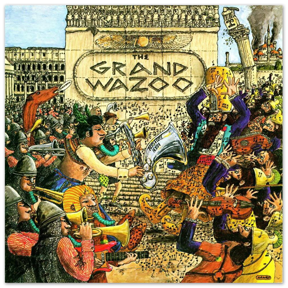 Frank Zappa Quot The Grand Wazoo Quot Rock And Roll Album Cover