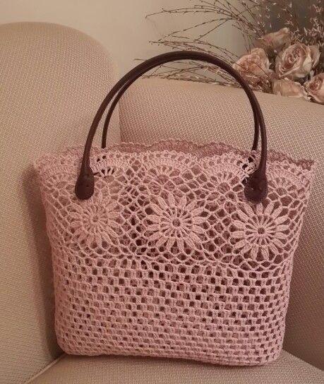 9beeaa9c35e8f deri saplı tığ işi kolalı el çantası modeli - Kadınlar Sitesi ...