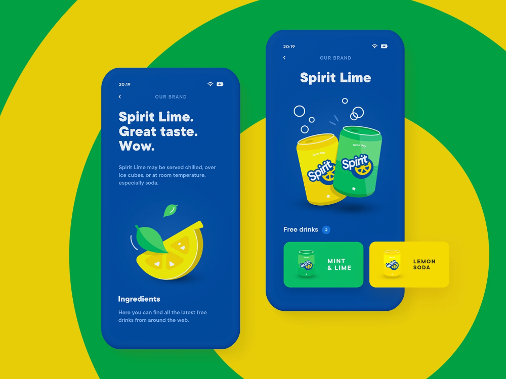 Spirit Lime Event App Brand Screen