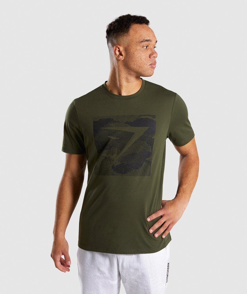 3b52c32c9 Gymshark Ultra Jacquard T-Shirt - Woodland Green 1 | My stuff in ...