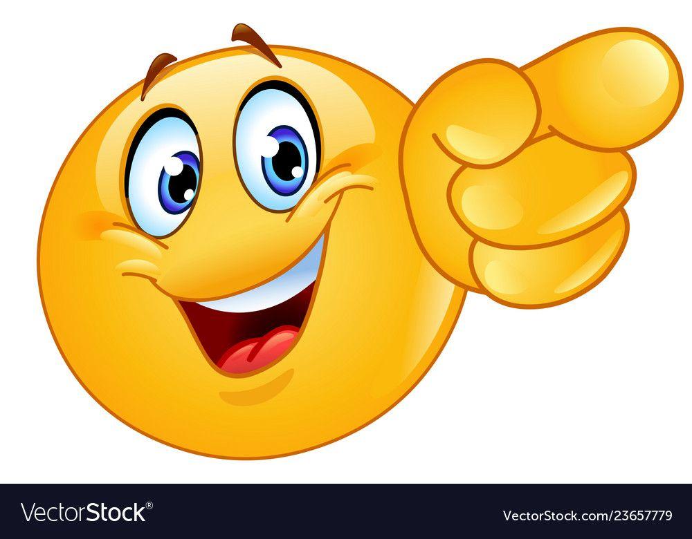 Pointing Forward Emoticon Vector Image On Gumor