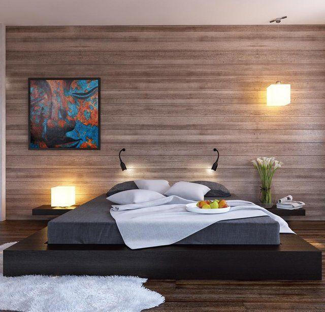 Platform Bed With Integrated Nightstands Bedroom Wall Designs Modern Bedroom Design Minimalist Bedroom Design