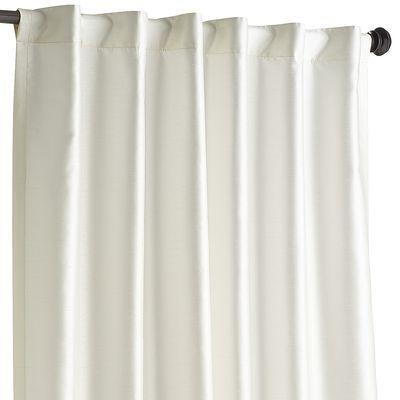 Hamilton Rod Pocket Curtain Ivory 108 Master Bedroom Ivory