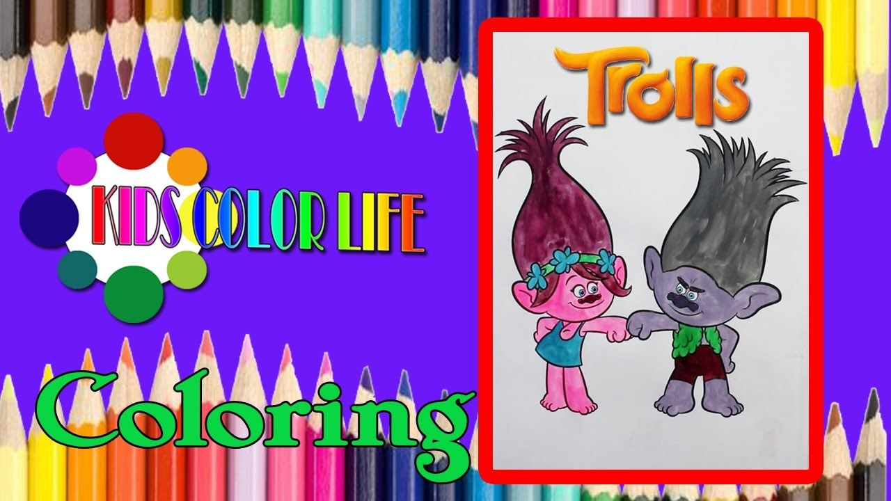 Coloring Branch & Poppy Trolls GIANT Coloring Book Crayola