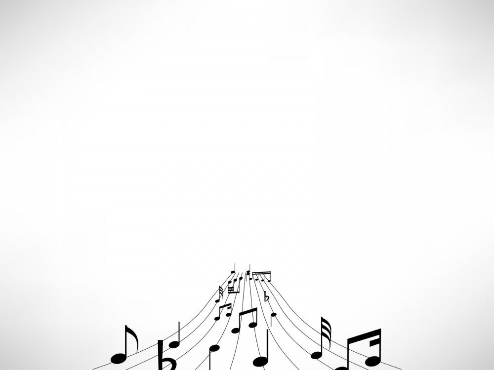 Music Notes Powerpoint Template  Graphic Images    Music