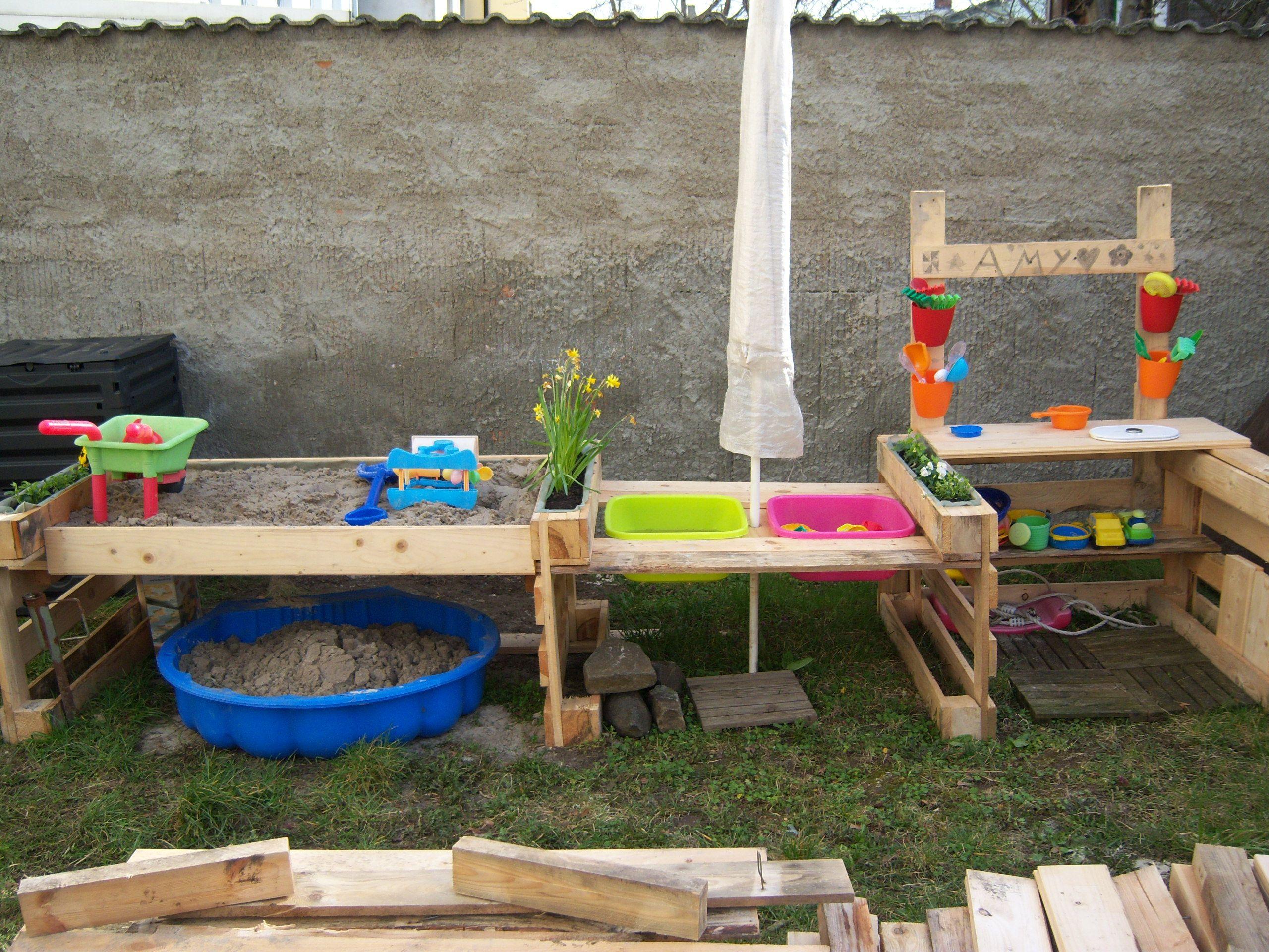 Matschspielplatz Matschküche Kinder Garten Spielplatz Kinderspielplatz