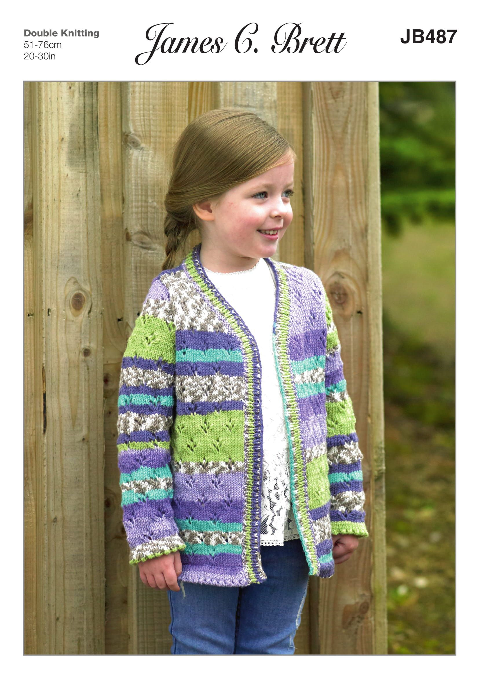 4b9508584a43a Knit Stitches · Online Only  The James C Brett Fairground DK Child s  Cardigan Pattern will help to keep