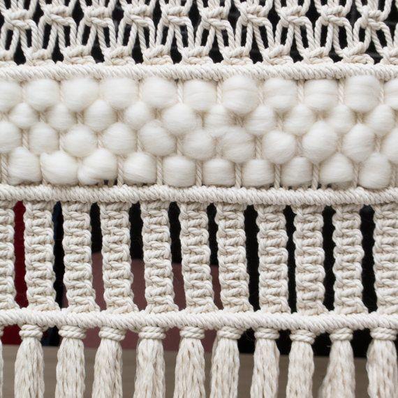 Pantalla de pared XXL Macrame / Macrame moderna / por TeddyandWool - tapices modernos