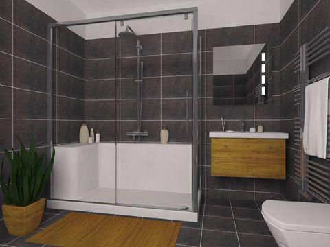 Grâce à une coque en acrylique, la douche Facilitot remplace la