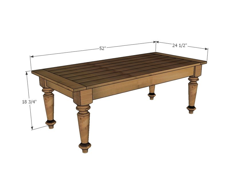 Coffee Table Dimensions Standard dimensions of standard coffee table | turned leg coffee table