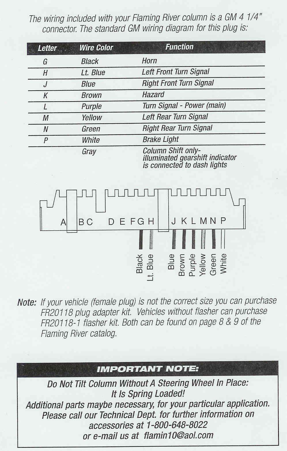 Ididit Steering Column Wiring Diagr 3 Steering Column Chevy Trucks Column