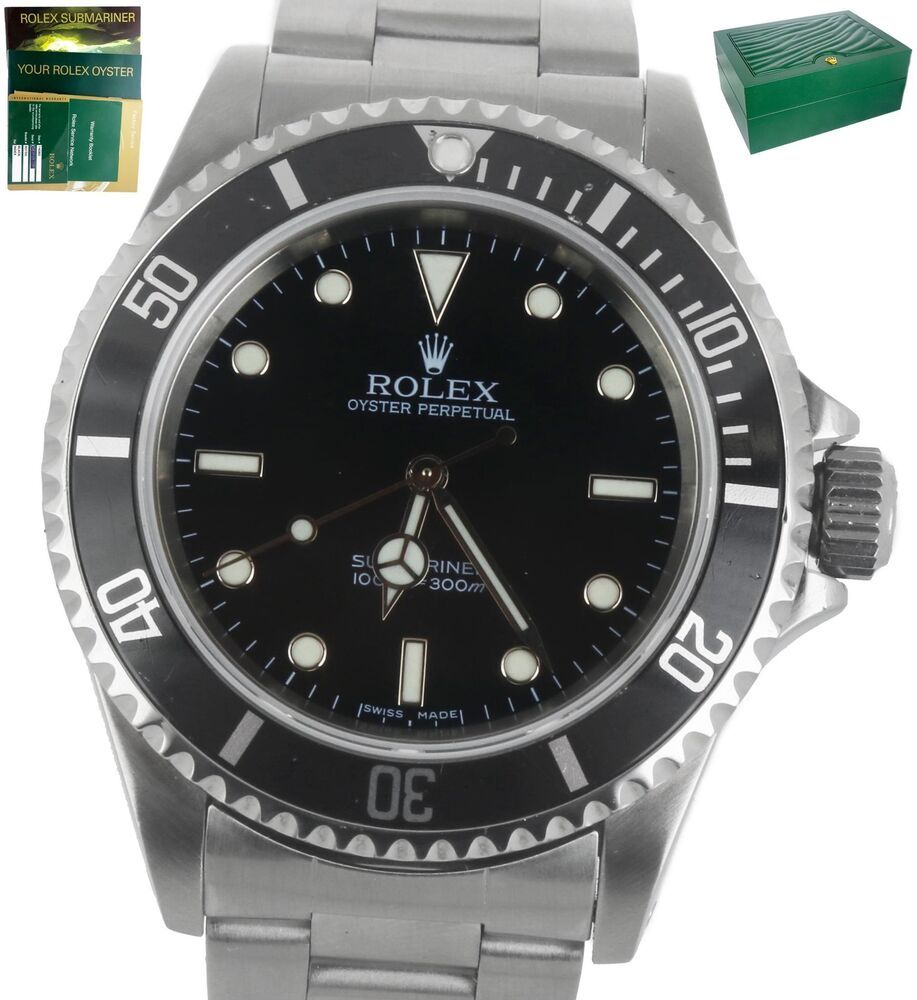 2007 Rolex Submariner No Date 14060 M Z Series Stainless Black Dive Watch Rolex Rolex Submariner Mens Watches For Sale