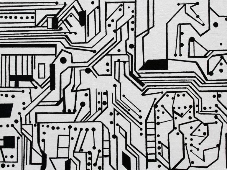"Saatchi Art Artist Jean Frater; Painting, ""circuit board 5"" #art"