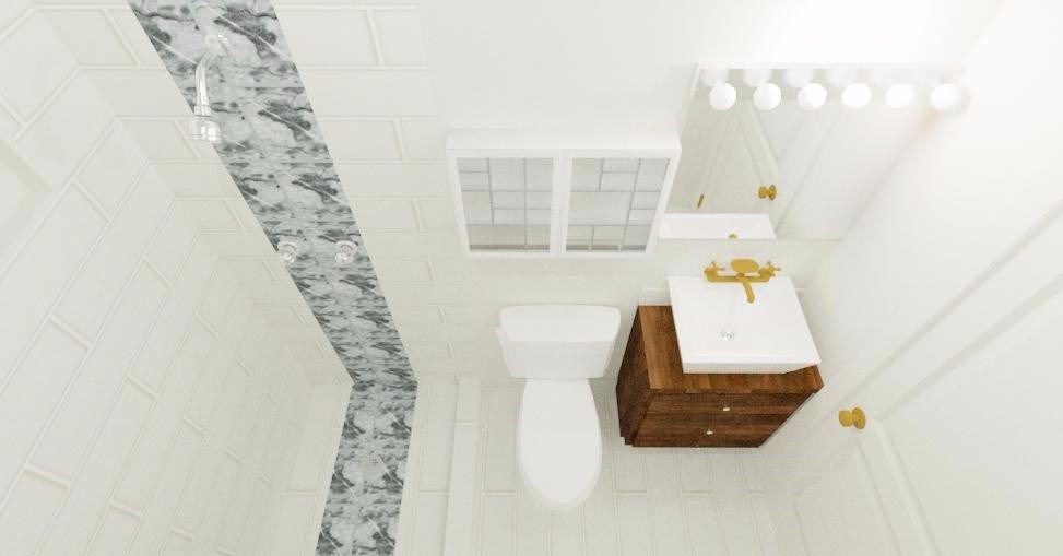 Aerial view bath remodel by KRE Group LLC | Chief Architect ...
