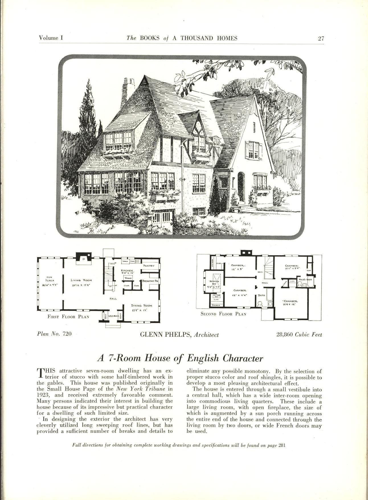 The books of a thousand homes vol 1 plan books for House floor plan books