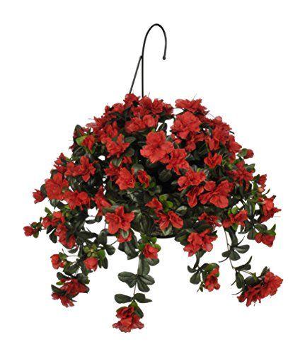 House of silk flowers artificial red azalea hanging basket be house of silk flowers artificial red azalea hanging basket be sure to check mightylinksfo