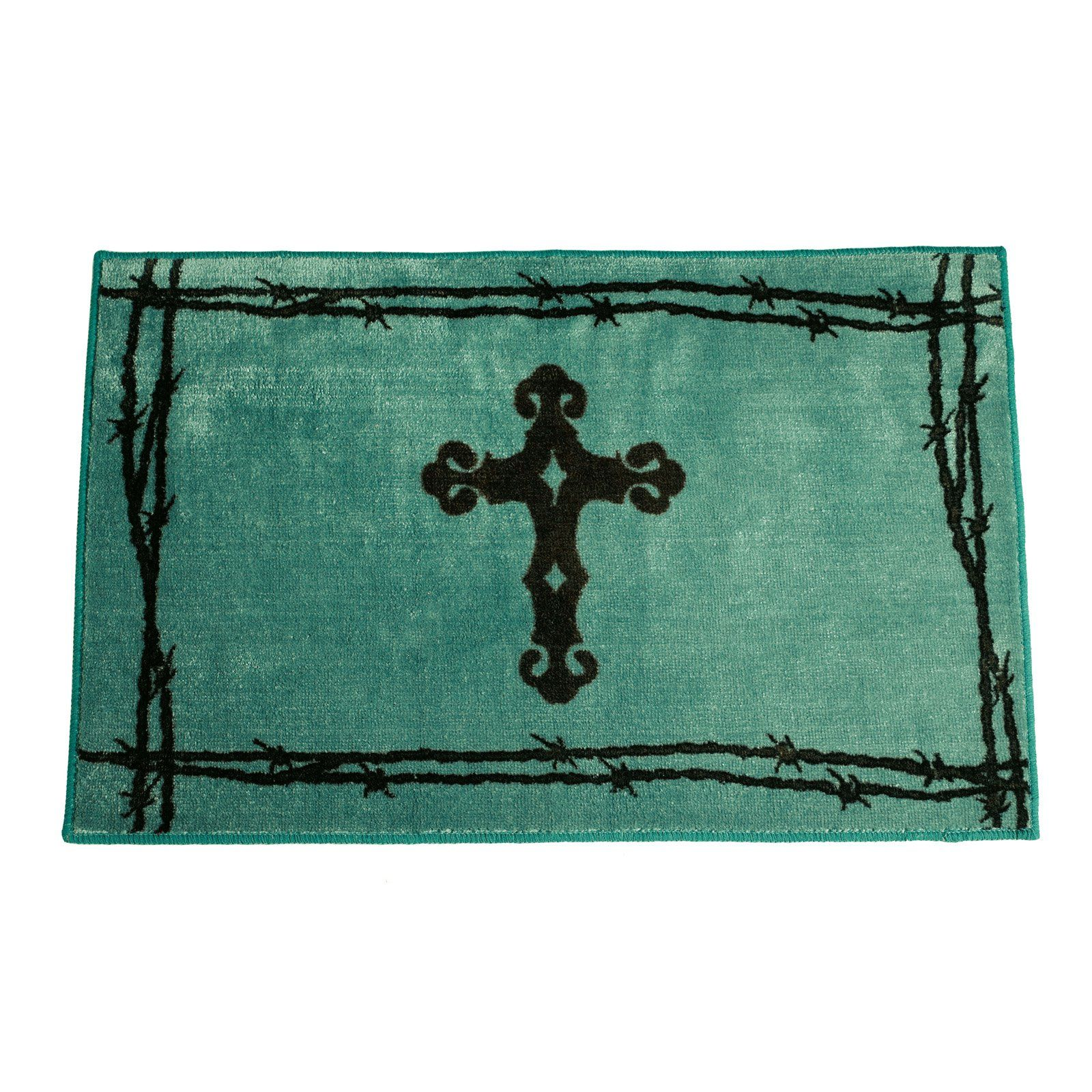 Hiend Accents Cross Print Bath Rug