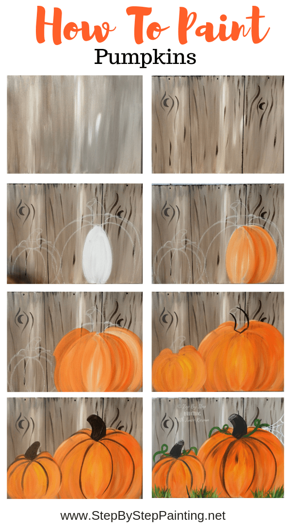 How To Paint Pumpkins On Canvas - Step By Step Pai