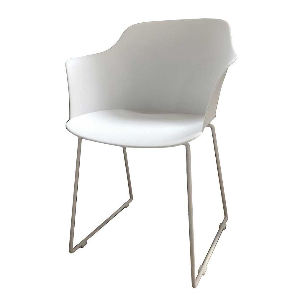 Armlehnenstuhl In Weiss Kunststoff Metall 4er Set Jetzt Bestellen Unter Https Moebel Ladendirekt De Kueche Stuhle Wohnzimmer Stuhle Armlehnstuhl Esszimmer