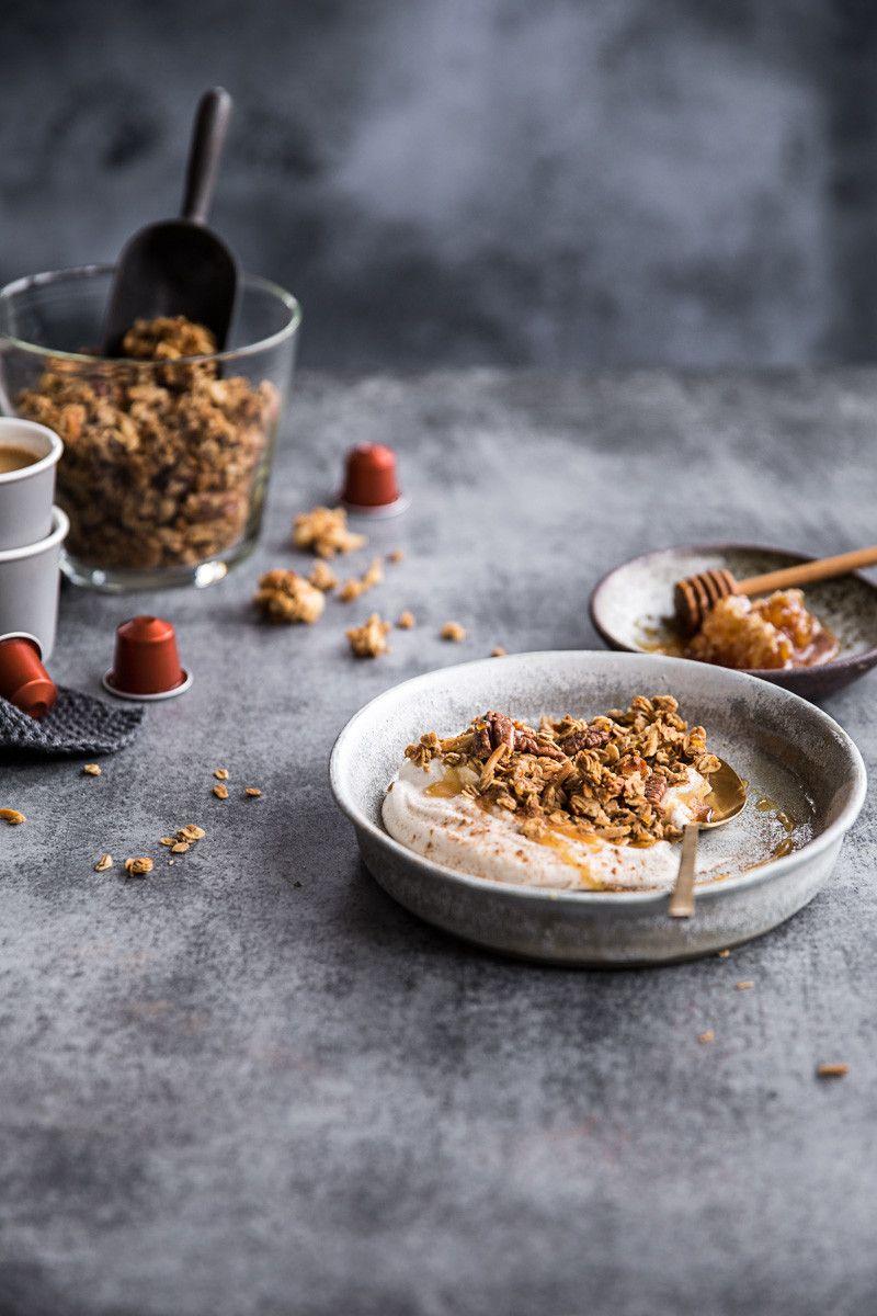 Coffee gingerbread granola Recipe Granola, Food, Sweet