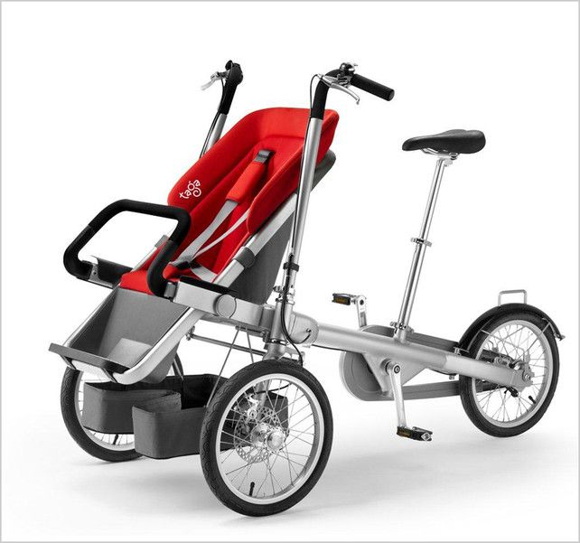 A Clever Stroller That Converts Into An Adult Trike In 20 Seconds ...