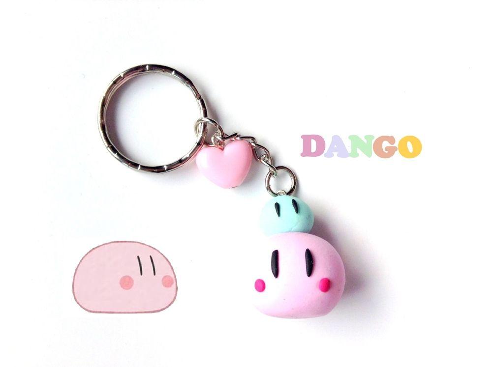 Anime Keychain Clannad Dango Family Pink Dango Charm Kawaii Clay