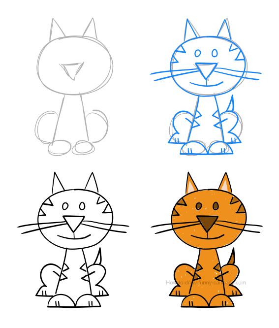 Pin Von Sharon Landis Auf Cartoon Character Drawings Katze Cartoon Zeichnung Lustige Kinderzeichnungen Kinder Zeichnen