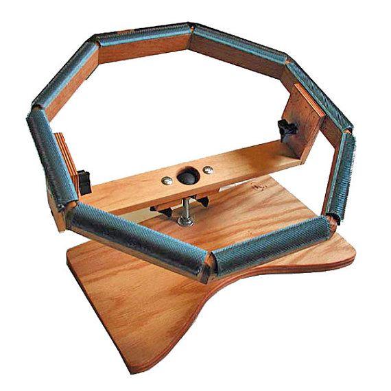 Rug Hooking Lap Frame With 14 Inside Octagonal Hooking Etsy Rug Hooking Frames Rug Hooking Rugs