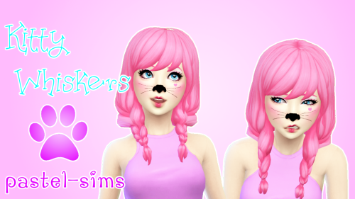 Sims 4 Kitty nose & whiskers | Sims 4 cc | Sims 4, Sims