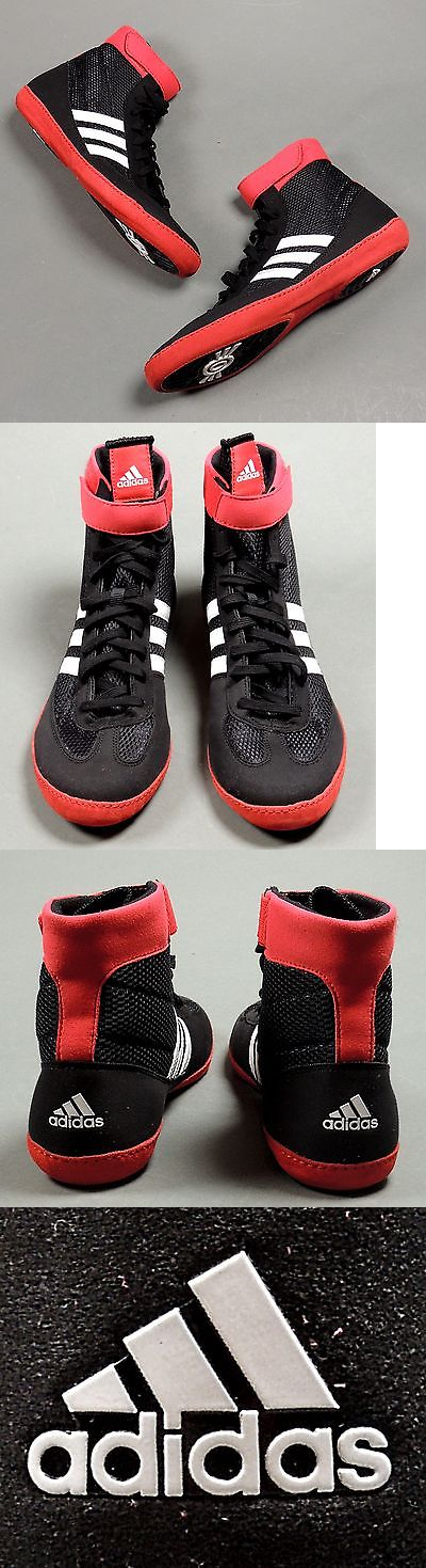 8b517c9c5a4 Clothing 79796  New Adidas Combat Speed 4 Wrestling Shoes G96428  Black White Red