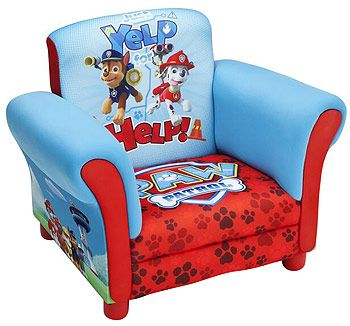 Paw Patrol Chair Upholstered Kids Bedroom Toddler Furniture Dogs Deep  Seated NEW